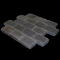 Abbeystones Brilliant Black 30x20x5 getrommeld (€125,95 pakket 10m2)