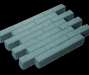 Waalformaat strak grijs