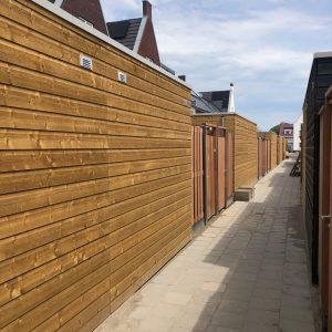 Nieuwbouw project Hardhouten beton schutting | Direct Bestrating