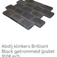 Abdij klinkers Brilliant Black