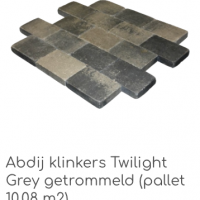 Abdij klinkers Twilight Grey