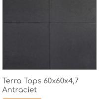 Terra Tops 60x60x4,7 cm Antraciet