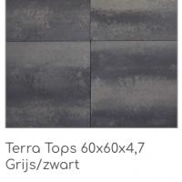 Terra Tops 60x60x4,7 cm Grijs/Zwart