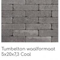 Tumbelton waalformaat 5x20x7,3 Coal