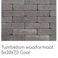 Tumbleton waalformaat 5x20x7,3 Coal