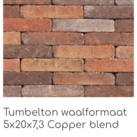 Tumbleton waalformaat 5x20x7,3 Copper blend