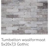 Tumbleton waalformaat 5x20x7,3 Gothic