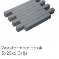 waalformaat strak 5x20x6 grijs