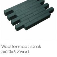 Waalformaat strak 5x20x6 zwart