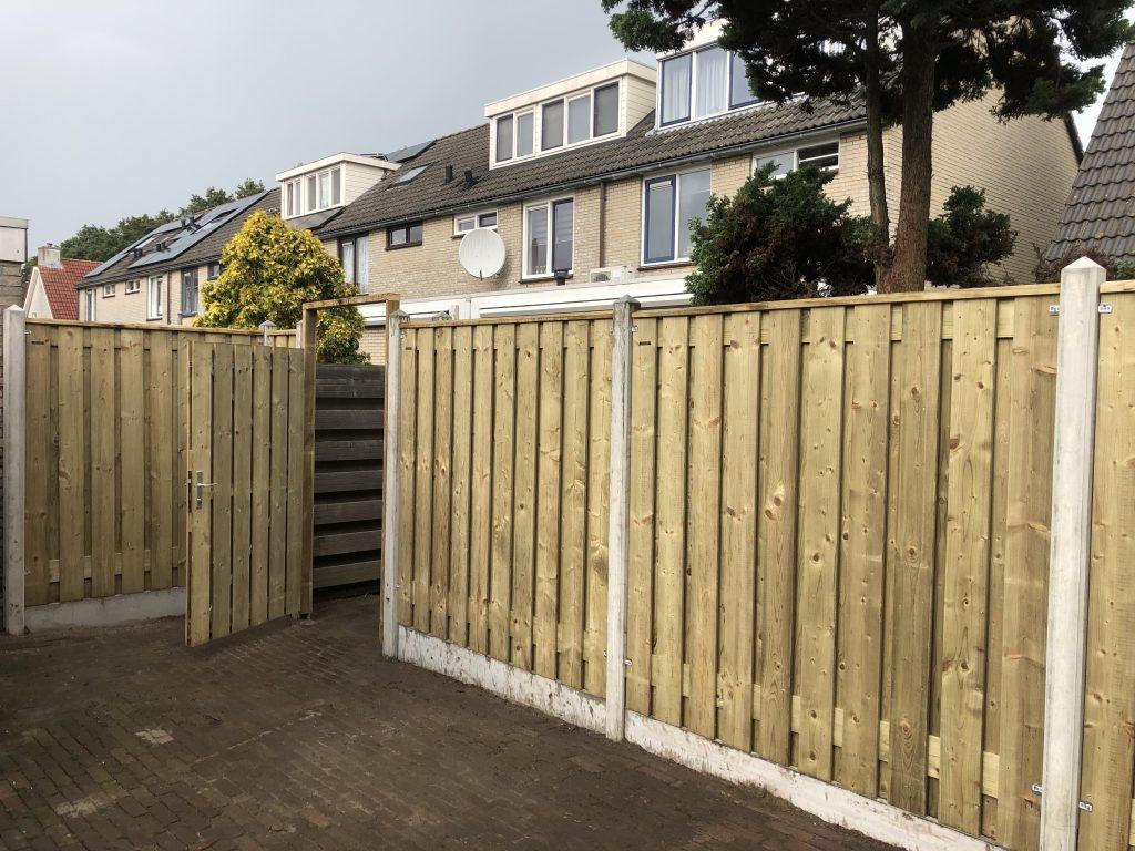 Hout beton schutting | Direct bestrating