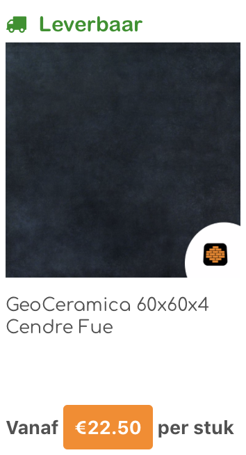 Geo Ceramica | Direct bestrating | Wormer