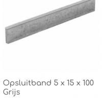 Opsluitband Grijs 5x15x100cm € 2,50 per stuk